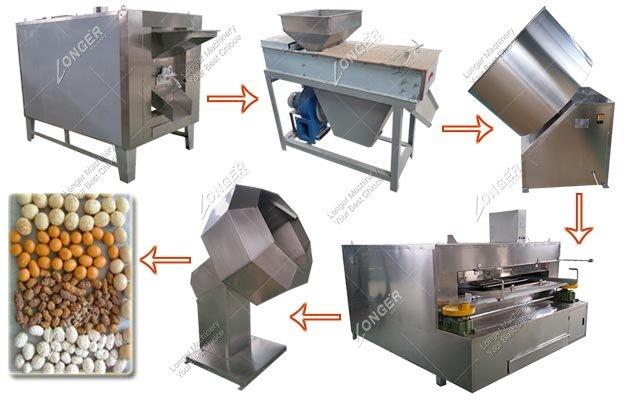 Professional Sugar Coated Peanuts Production Line